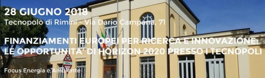 Finanziamenti europei per ricerca e innovazione: le opportunità di Horizon 2020 presso i Tecnopoli - Focus Energia e Ambiente