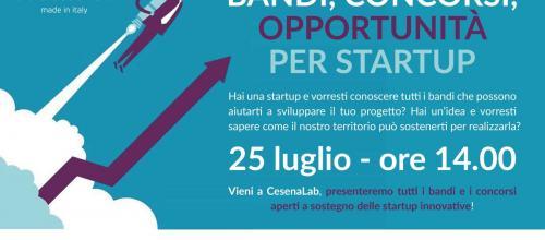 Bandi, concorsi, opportunità per startup