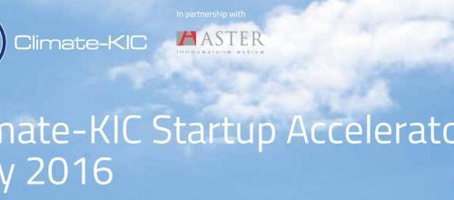 Selezionati i progetti per Climate-KIC Start Cup Accelerator 2016 - Stage 1