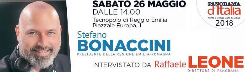 Panorama d'Italia: il 26 maggio Stefano Bonaccini intervistato da Raffaele Leone